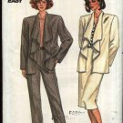 Butterick Sewing Pattern 3418 Misses Size 12-16 Easy Draped Collar Jacket Straight Skirt Pants Suit