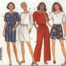 Butterick Sewing Pattern 3507 Misses Size 6-12 Easy Classics Cropped Top Skirt Shorts Pants