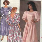 Retro Butterick Sewing Pattern 3528 Misses Size 6-10 Formal Full Skirted Basque Bodice Dress