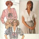 Butterick Sewing Pattern 3702 Misses Size 8-12 Short Long Sleeve Button Front Classic Blouse