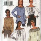 Butterick Sewing Pattern 3732 Misses Size L-XL Easy Long Sleeve Peasant Boho Top