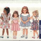 Butterick Sewing Pattern 3739 Girls Size 4-6 Easy Classic Dress Sundress Ruffles Collar Tie Back