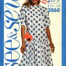 Butterick Sewing Pattern 3860 Misses Size 16-24 Easy Short Sleeved Dropped Waist Dress