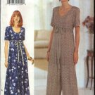 Butterick Sewing Pattern 3895 Misses Size 6-10 Easy Raised Empire Waist Dress Jumpsuit