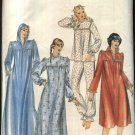 Butterick Sewing Pattern 3914 Misses Size 10 Pajamas Nightgown Zipper Front Hooded Robe