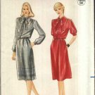 Butterick Sewing Pattern 3932 Misses Size 14 Classic Button Front Bodice Dress Bow Tie Belt