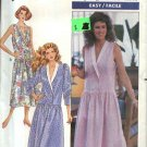 Butterick Sewing Pattern 4081 Misses Size 6-10 Easy Dropped Waist Dress Sleeve Options