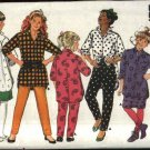 Butterick Sewing Pattern 4141 Girls Size 7-10 Easy Big Shirt Straight Skirt Tapered Pants Leggings