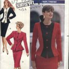 Butterick Sewing Pattern 4344 Misses Size 6-10 Easy Button Front Contrast Fabric Top Skirt Suit