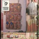 Butterick Sewing Pattern 4371 B4371 232 Round Square Tablecloths Shoe Bag Bed Caddy