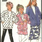 Butterick Sewing Pattern 4521 Girls Size 7-10 Easy Knit Raglan Sleeve Jacket Straight Skirt Pants