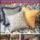 Butterick Sewing Pattern 4593 Pillows Cushions Square Rectangle Triangle Round Home Décor