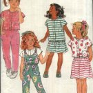 Butterick Sewing Pattern 4670 Girls Size 4-6 Easy Wardrobe Jumpsuit Dress Top Skirt Pants