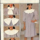 Butterick Sewing Pattern 4740 Misses Size 12 Loose Fitting Dress Detachable Collars