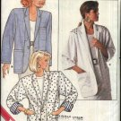 Butterick Sewing Pattern 4850 Misses Size 8-12 Easy Unlined Extended Shoulder Jacket