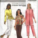 Butterick Sewing Pattern 5000 Misses Size 16-22 Easy Long Sleeve Jacket Sash Cropped Capri Pants