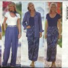 Butterick Sewing Pattern 5007 Misses Size 6-10 Wardrobe Shirt Bodysuit Skirt Sarong Pants Scarf