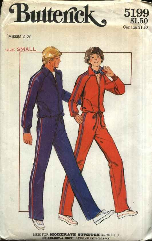 Butterick Sewing Pattern 5199 Misses Size 8-10 Zipper Front Knit Workout Jacket Top Pants
