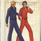 Butterick Sewing Pattern 5200 Men's Size 28-30 Zipper Front Knit Workout Jacket Top Pants