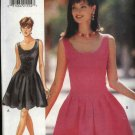 Butterick Sewing Pattern 3977 Misses Size 14-16 Easy Sleeveless Full Skirt Short Dress