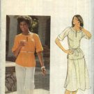 Butterick Sewing Pattern 5478 Misses Size 14 Pullover Top A-Line Skirt Wide Leg Pants Belt