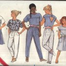 Butterick Sewing Pattern 5617 Girls Size 4 Easy Suntop Summer Top A-Line Skirt Tapered Pants