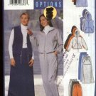 Butterick Sewing Pattern 5756 Misses Size 20-24 Easy Zipper Front Hooded Jacket Vest Skirt Pants