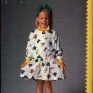 Butterick Sewing Pattern 5789 Girls Size 2-4 Easy Esprit Kids Long Sleeve Knit Dress