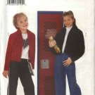 Butterick Sewing Pattern 6237 Girls Size 7-10 Easy Zipper Front Jacket Bell Bottom Jeans Pants