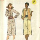 Butterick Sewing Pattern 6378 Misses' Size 8 Unlined Vest Long Sleeve Button Front Dress
