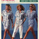 Butterick Sewing Pattern 6453 Misses Size 6-14 Summer Wardrobe Shirt Shorts Cropped Pants