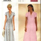 Butterick Sewing Pattern 6457 B6457 Misses Size 12-16 Easy Short Sleeve Shawl Collar Tucked Dress