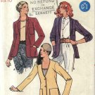 Butterick Sewing Pattern 6547 Misses Size 10 Easy Button Front Long Sleeve Jacket Collar Options