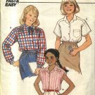 Butterick Sewing Pattern 6583 Girls Size 12-14 Easy Classic Button Front Shirt Blouse Sleeve Options