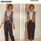 Butterick Sewing Pattern 6682 Misses Size 6-10 Easy Wardrobe Vest Tie Shirt Skirt Pants