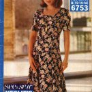 Butterick Sewing Pattern 6753 Misses Size 12-16 Easy Short Sleeve Princess Seam Dress