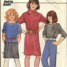 Butterick Sewing Pattern 6799 Girls Size 12-14 Easy Wardrobe Pullover Dress Top Skirt Pants