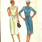 Butterick Sewing Pattern 6904 Misses Size 14 Pullover Cowl Neck Knit Straight Dress Belt