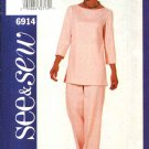 Butterick See & Sew Sewing Pattern 6914 Misses Size 18-22 Easy Pullover Tunic Top Pants