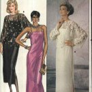 Butterick Sewing Pattern 6950 Misses Size 10 Formal Straight Dress Evening Gown Top