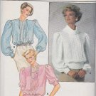 Butterick Sewing Pattern 6957 Misses Size 8-12 Tucked Front Back Button Blouse