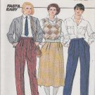 Butterick Sewing Pattern 6962 Misses Size 14-18 Easy Tapered Pants Flared Skirt