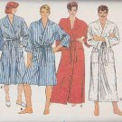 "Butterick Sewing Pattern 6968 Unisex Misses Mens  Size 34-36"" Front Wrap Robe Pajama Pants"