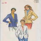 Butterick Sewing Pattern 6998 Misses Size 10 Lined Jacket Blazer Long Sleeve Patch Pockets