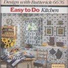 Butterick Sewing Pattern 6676 Easy Kitchen Décor Curtains Placemats Blender Toaster Covers