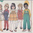 Butterick Sewing Pattern 6971 Boys Girls Size 2 Embellished Jumper Overalls Vest