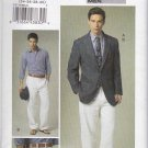 Vogue Sewing Pattern 8719 Mens Size 34-40 Unlined Button Front Jacket Pants Trousers Suit