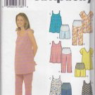 Simplicity Sewing Pattern 5159 Misses Size 4-10 Maternity Summer Tops Shorts Cropped Pants