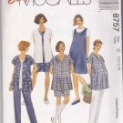 McCall's Sewing Pattern 8757 Misses Size 8-12 Easy Maternity Wardrobe Jacket Jumper Top Shorts