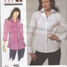 Vogue Sewing Pattern 1165 Misses'/Women's Plus Size 10-32W Easy Button Front Blouse Shirt
